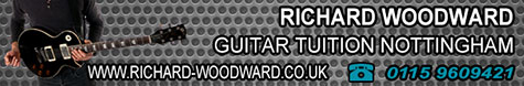Nottingham guitar lessons banner